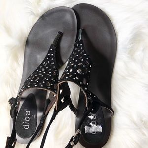 Diba Leather Sandals Sz:8M summer walking